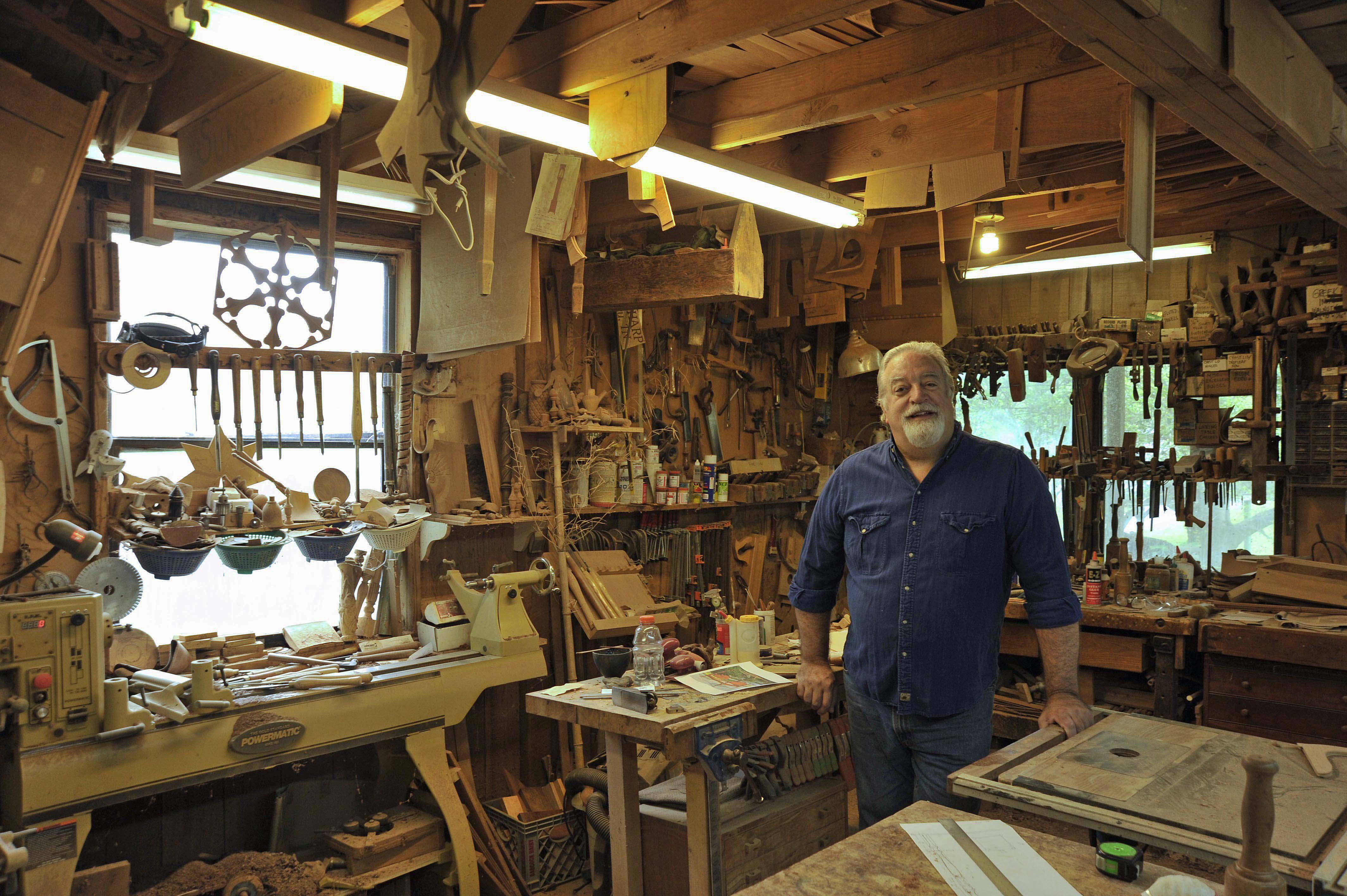 Alf in his shop