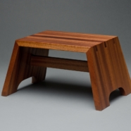 Sapele step stool